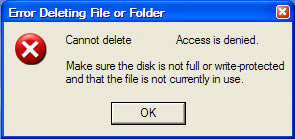 Error Deleting File - Access Denied