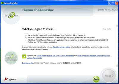Kazaa License Agreement